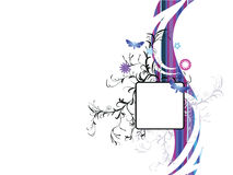 Abstract floral background. With place for your text.Vector illustration in AI-EPS8 format Stock Photo