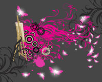 Abstract floral background. With place for your text Royalty Free Stock Photography