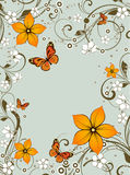 Abstract floral background. Royalty Free Stock Image