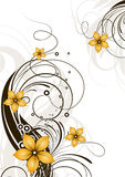 Abstract floral background. Stock Photo