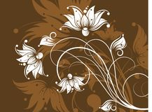Abstract floral background. Stock Photography