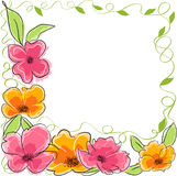 Abstract floral background. Illustration royalty free illustration