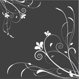 Abstract floral background. An excellent illustration for the book, wall-paper, packaging, textiles, paintings, paper, design space Royalty Free Stock Photography