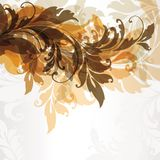 Abstract floral background. Elements for design Royalty Free Stock Image