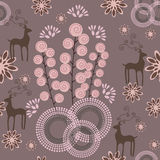 Abstract floral background. Retro stylized abstract seamless pattern vector illustration