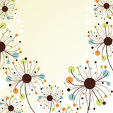 Abstract floral background. stock image