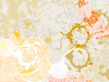 Abstract floral background. With stylized splashes Royalty Free Stock Image