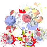 Abstract floral background. With decorative spots Royalty Free Stock Images
