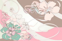 Abstract floral background. Delicate floral background. vector illustration Royalty Free Stock Photo