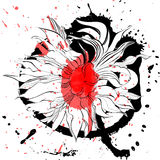 Abstract floral background royalty free illustration