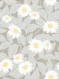 Abstract floral background. Seamless abstract floral background with white flowers Stock Photography