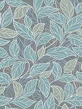 Abstract floral background. Seamless abstract floral background with leaves Stock Images