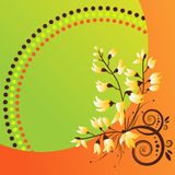 Abstract  floral background. This image is a vector illustration and can be scaled to any size without loss of resolution. This image will download as a .eps Stock Photography