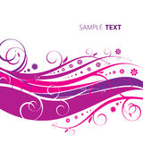 Abstract floral background. Of emo-style color. Vector Stock Image