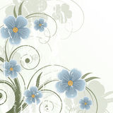 Abstract floral background. Old retro abstract floral background Stock Image