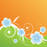 Abstract floral background. Orange green abstract floral background Royalty Free Stock Photos