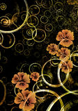 Abstract floral background. Abstract background with floral elements and circular shapes Royalty Free Stock Images