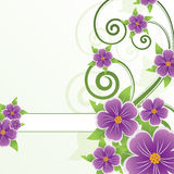 Abstract floral background. With place for your text Stock Image