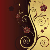 Abstract floral background. With place for your text Royalty Free Stock Photo