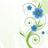 Abstract floral background. With place for your text Royalty Free Stock Images