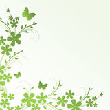 Abstract floral background. With place for your text Stock Photography