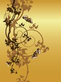 Abstract floral background. Grape and butterflies, design for card, background or wallpaper Stock Photography