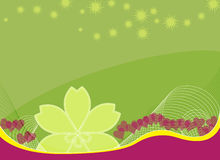 Floral background with stars. An abstract floral background with stars overhead vector illustration