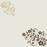 Abstract floral background. With place for  text Stock Photo