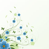 Abstract floral background. Floral abstract background with butterflies Stock Image