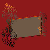 Abstract floral background. Abstract floral frame with place for  text Royalty Free Stock Photo