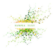 Abstract floral background. With place for your text (green Royalty Free Stock Photo
