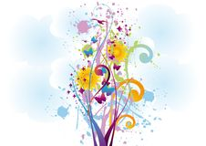 Abstract Floral Background. Vector illustration royalty free illustration