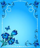 Abstract floral background. For decor Vector Illustration