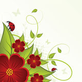 Abstract floral background. With place for your text Stock Images