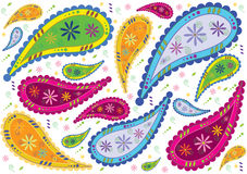 Abstract floral background. Colorfully background or pattern in retro floral style vector illustration