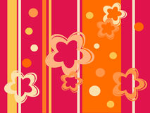 Abstract floral background. Vector illustration of a flower background Royalty Free Stock Images