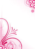 Abstract floral background. Pink abstract floral background frame Royalty Free Stock Images