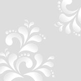 Abstract floral background. In black and white.  vector illustration Stock Photo