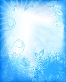 Abstract floral background in blue tones. Royalty Free Stock Images