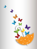 Abstract floral background with butterflies Royalty Free Stock Photography