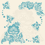 Abstract floral background with butterflies. Royalty Free Stock Photography