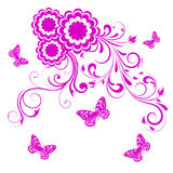 Abstract floral background with butterfly Royalty Free Stock Photography