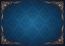 Abstract Floral Background With Corner Floral. Elements Royalty Free Stock Photography