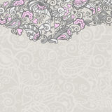 Abstract floral background. With doodle elements. Vector illustration Stock Images