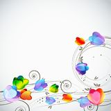 Abstract floral background, elegant tulips flowers. Stock Photo