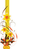 Abstract floral background, element for design stock illustration