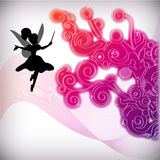 Abstract floral background with fairy Stock Image