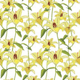 Abstract floral background. Flourish tiled pattern Royalty Free Stock Images