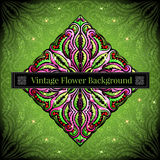 Abstract floral background with flower and berry Royalty Free Stock Image