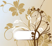 Abstract floral background with free space for you. R text. vector illustration Stock Photography